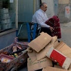 Man with boxes, Tehran