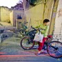 Boy with bicycle, Tehran