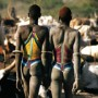 Dinka Men in Beaded Corsets, South Sudan<br />