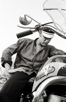 Elvis on his Harley