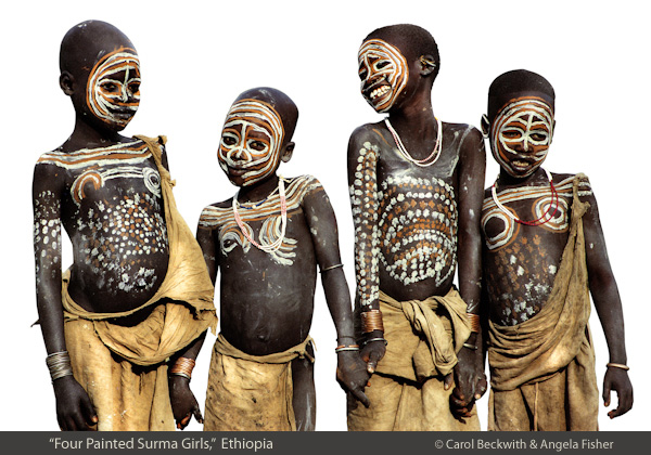 Four Young Surma  Friends