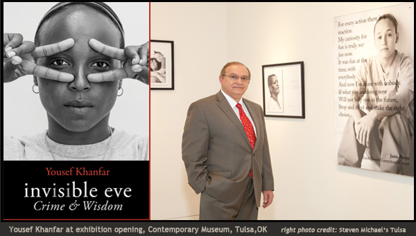 Yousef Khanfar at Invisble Eve exhibition, Contemporary Museum