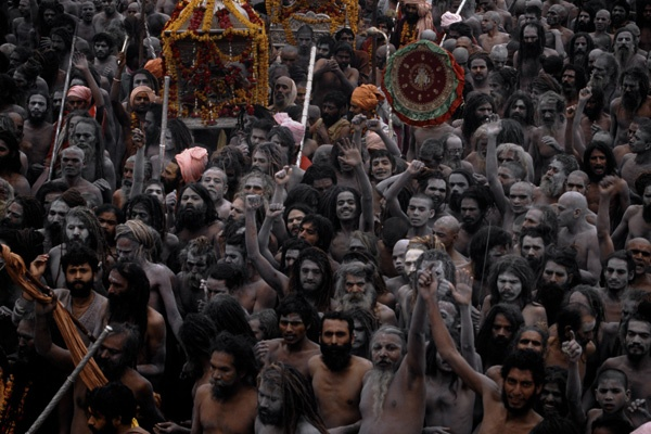 Nagas, Khumbha Mela - Allahabad, India by Thomas L. Kelly