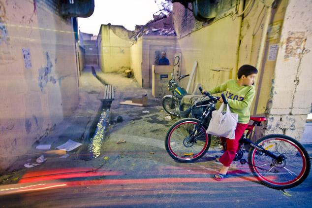 Boy with bicycle, Tehran by James Longley