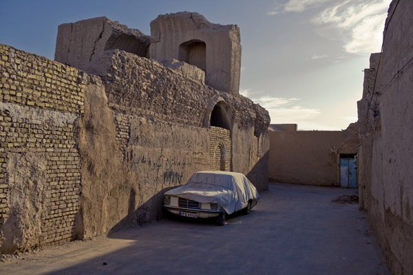 Covered Mercedes, Yazd by James Longley