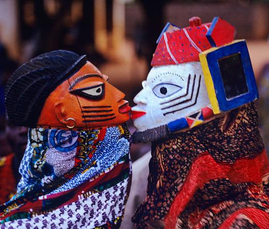 Yoruba Lovers masks by Carol Beckwith and Angela Fisher