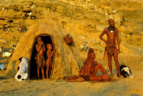 Himba Homestead, Namibia by Carol Beckwith and Angela Fisher