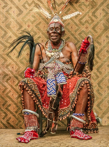 Revered Kuba Elder, D.R.Congo by Carol Beckwith and Angela Fisher