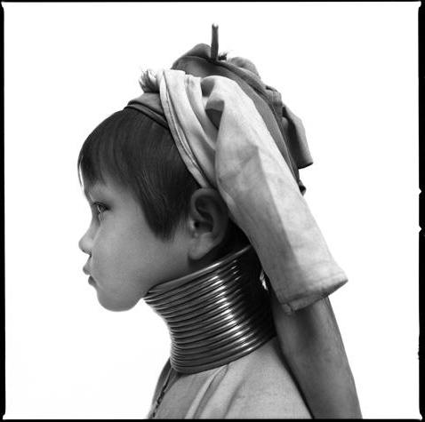 Long-necked child, Karen Padaung tribe by Chris Rainier