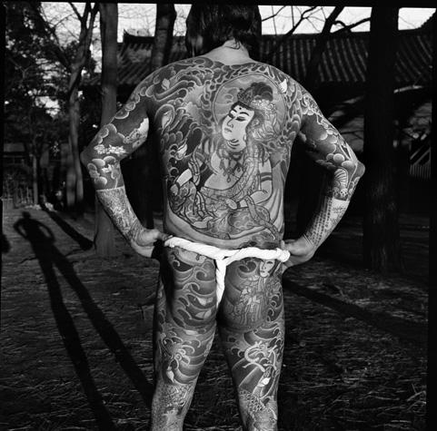 Traditional Yakuza tattoos back by Chris Rainier