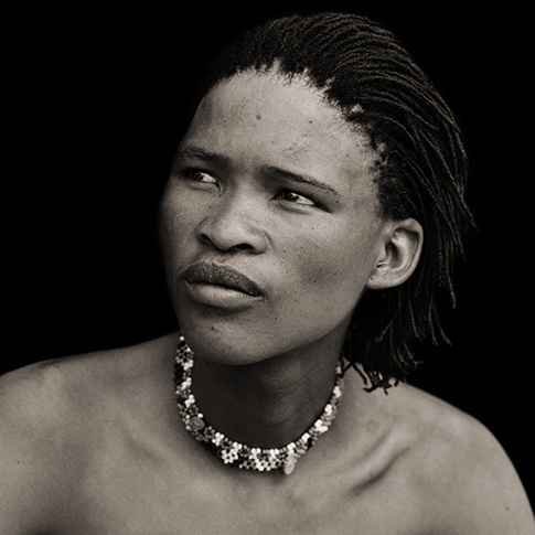 San Boy with Corn Row Hair, Xai Xai, Botswana, 2009 by Dana Gluckstein