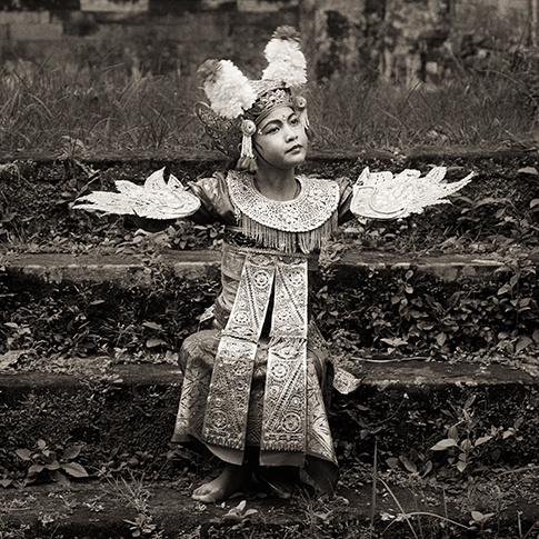 Young Girl with Wings, Bali, 1988 by Dana Gluckstein