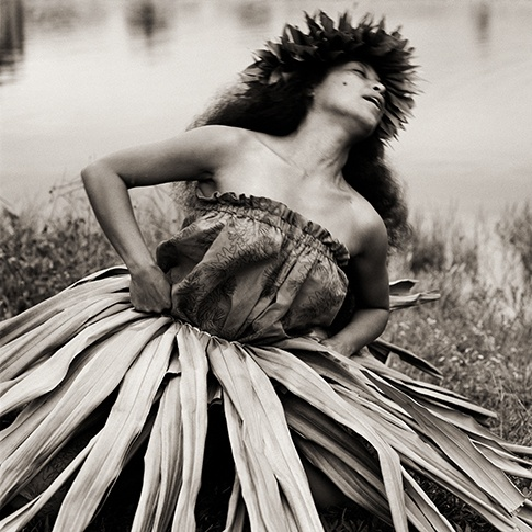 Traditional Hula Dancer, Hawaii, 1996 by Dana Gluckstein