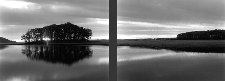 Witch Island, Sunrise, Diptych #11 by Dorothy Kerper Monnelly