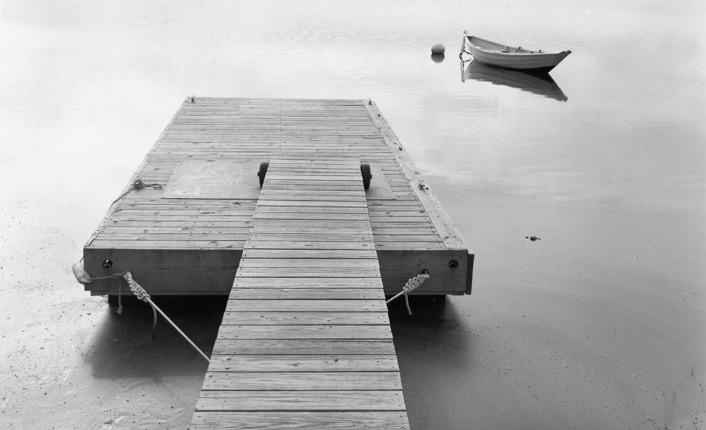 Dock and Dory, Low Tide by Dorothy Kerper Monnelly