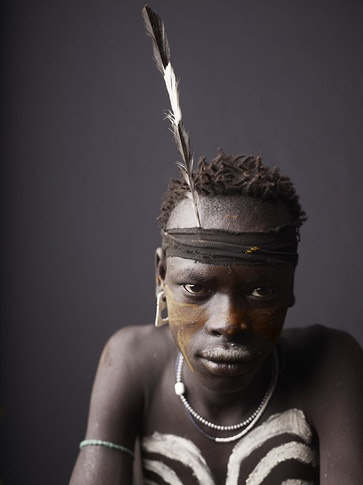 Study of Mursi Youth by Joey L.