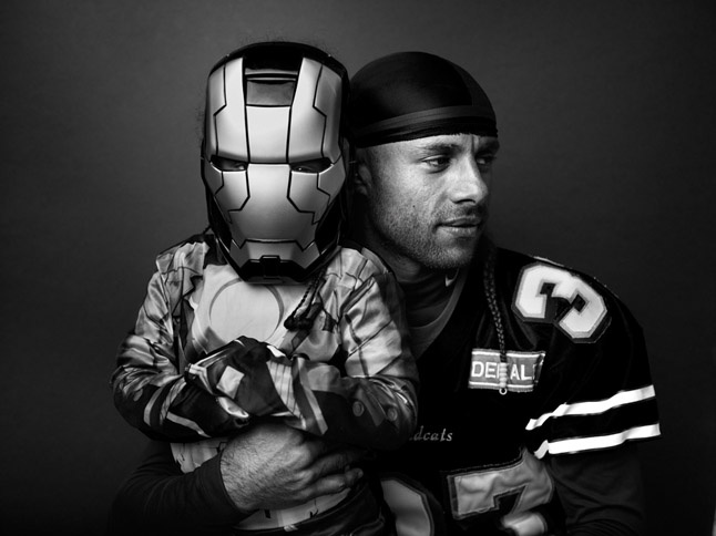 "Rene Ortiz, SR & Rene Ortiz, JR as ""Iron Man""  by Joey L."