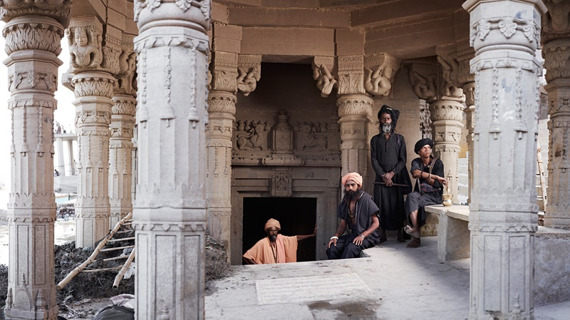 Aghoris at Shiva Temple by Joey L.