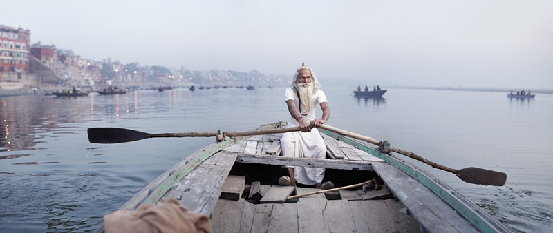 Vijay Nund on Ganges River by Joey L.