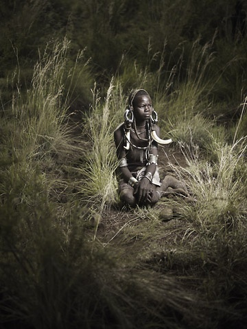 Mursi Boy in Tall Grass by Joey L.