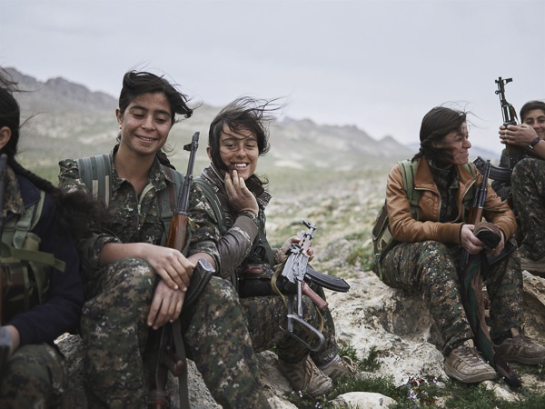 Women of the Shingal Resistance Unit II by Joey L.