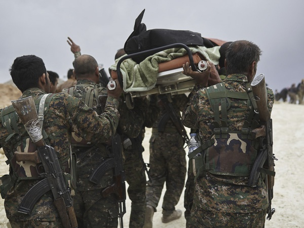 "Funeral of Shingal Resistance Unit Fighter, ""Manur"" by Joey L."