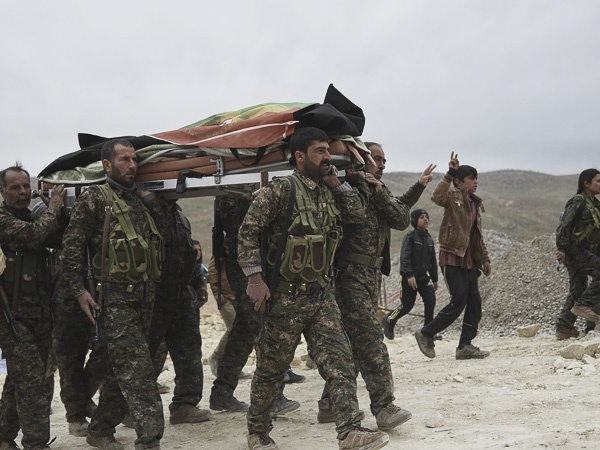 "Funeral of Shingal Resistance Unit Fighter, ""Manur"" II by Joey L."