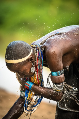 Bathing, Arbore Tribe #1 by John Rowe
