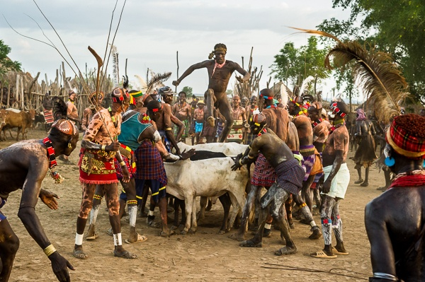 Bull Jump Ceremony, Kara Tribe Dus Village by John Rowe