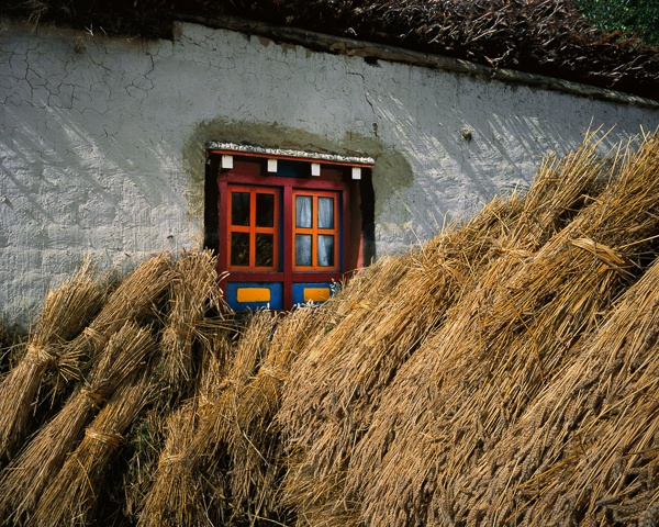 Barley Sheaves and Window, Ghemi by Kenneth Parker
