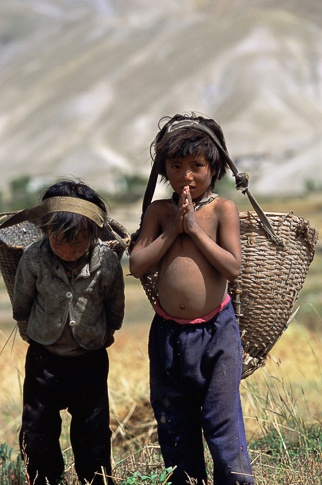 Boys with Harvest Baskets, Ghemi by Kenneth Parker