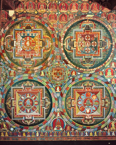 Five Mandalas (detail), Jampa Lhakhang, Lo Montang by Kenneth Parker