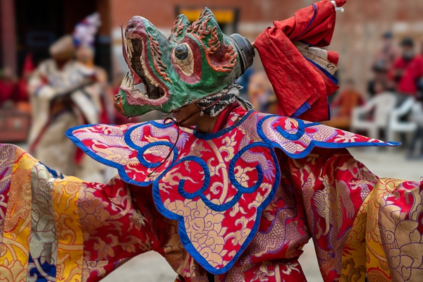 Masked Dancer on the Second Day of Teji Festival, Lo Montang by Luigi Fieni
