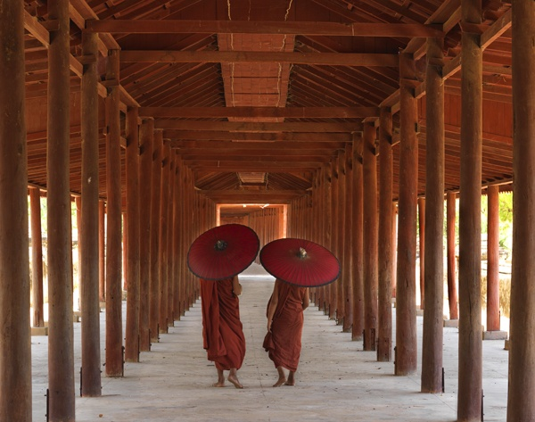 Two Parasols, Myanmar by Lisa Kristine