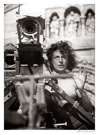 Riefenstahl Working on Film by Leni Riefenstahl