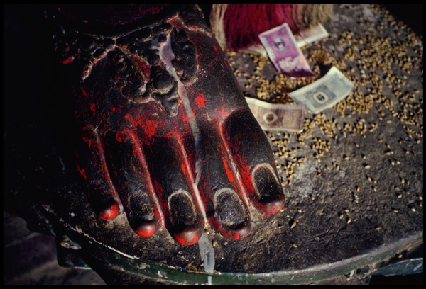 Buddha's Foot with Offerings by Marissa Roth