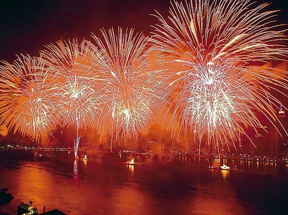 Fireworks over East River, 2003 by The New York Times Photo Archives