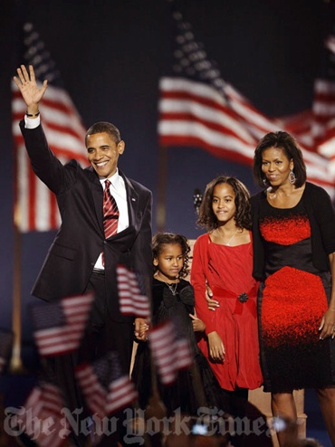 The First Family, Election Night 2008 by The New York Times Photo Archives