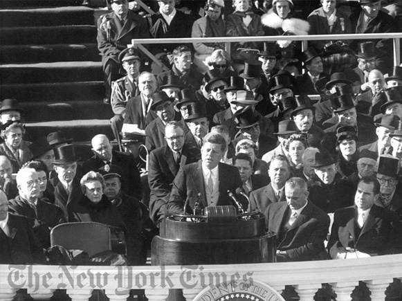 Kennedy Inaugural Address - 1961 by The New York Times Photo Archives