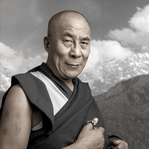 Tenzin Gyatso 59, Dharamsala, India by Phil Borges