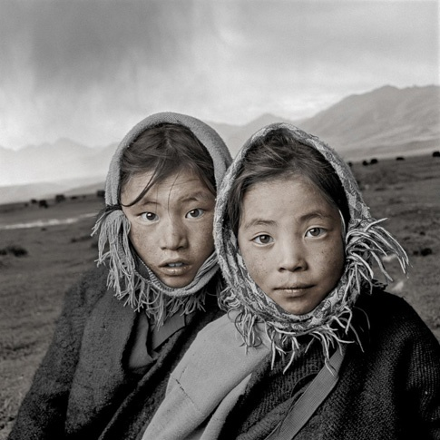 Dech 8 & Tsering 8, Damxung, Tibet by Phil Borges
