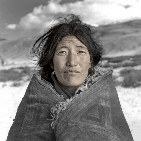 Dolma 38, Changtang, Ladakh by Phil Borges