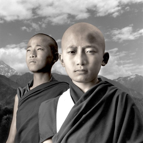 Namgyal 13 & Thuman 16, Dharamsala, India by Phil Borges