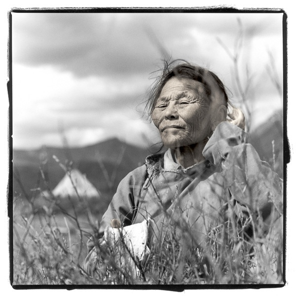 Tsend, 63, Tsaatan People, Tsaatan Camp, Mongolia by Phil Borges