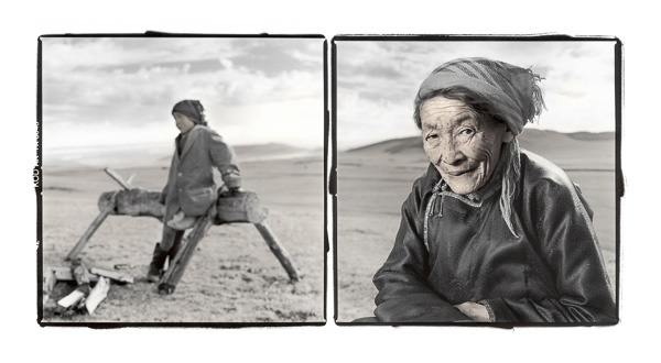 Namid, 70, Darkhad People, Tsaggan Nuur, Mongolia by Phil Borges