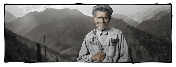 Janduli Kahn, 50+, Northern Frontier District, Pakistan by Phil Borges