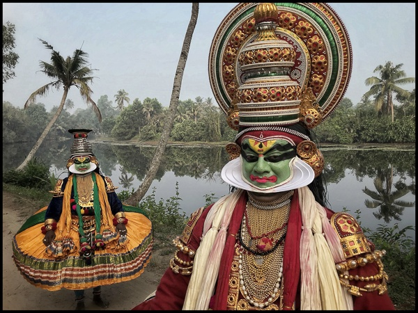 Kathakali Performance Mask, Kerala, India by Chris Rainier