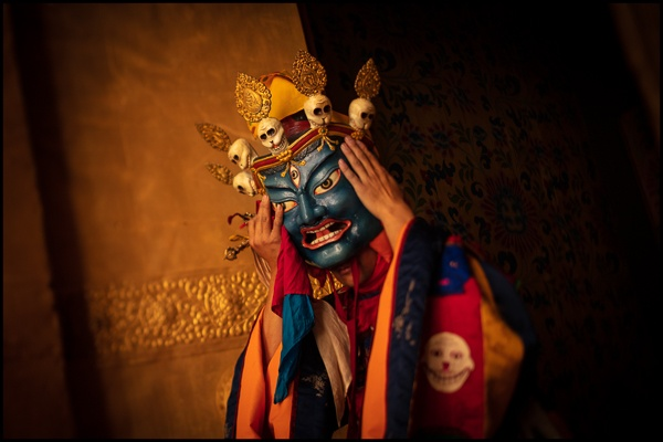 Buddhist Dance Mask, Bhutan by Chris Rainier