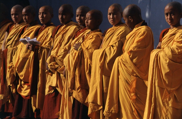 Buddhist Monk Procession, Boudhanath by Thomas L. Kelly