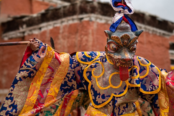 A Masked Dancer During the Second Day of the Teji Festival, Lo Montang by Luigi Fieni